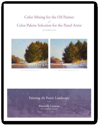 Barbara Jaenicke color mixing lesson