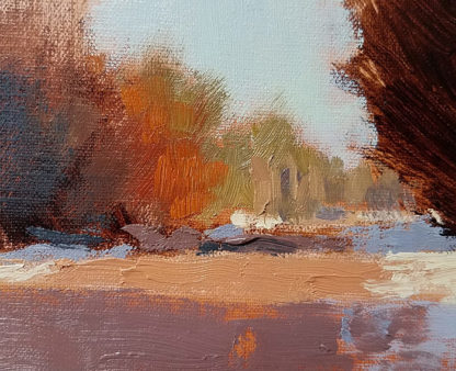 Oil painting color mixing lesson detail