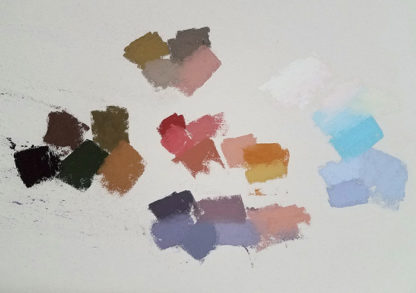 Pastel painting swatches by Barbara Jaenicke